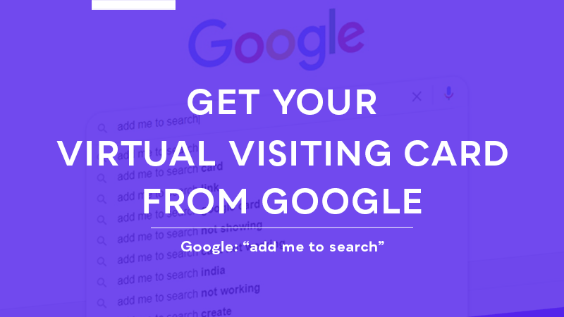 Google-Virtual-Visiiting-Card